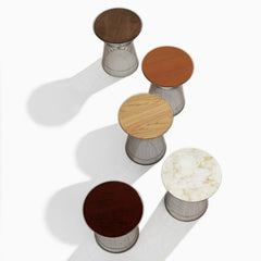 Platner Side Tabletop Options Marble Wood Veneer Glass Knoll
