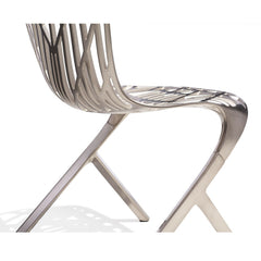 Washington Skeleton Chair Nickel Seat Detail David Adjaye for Knoll