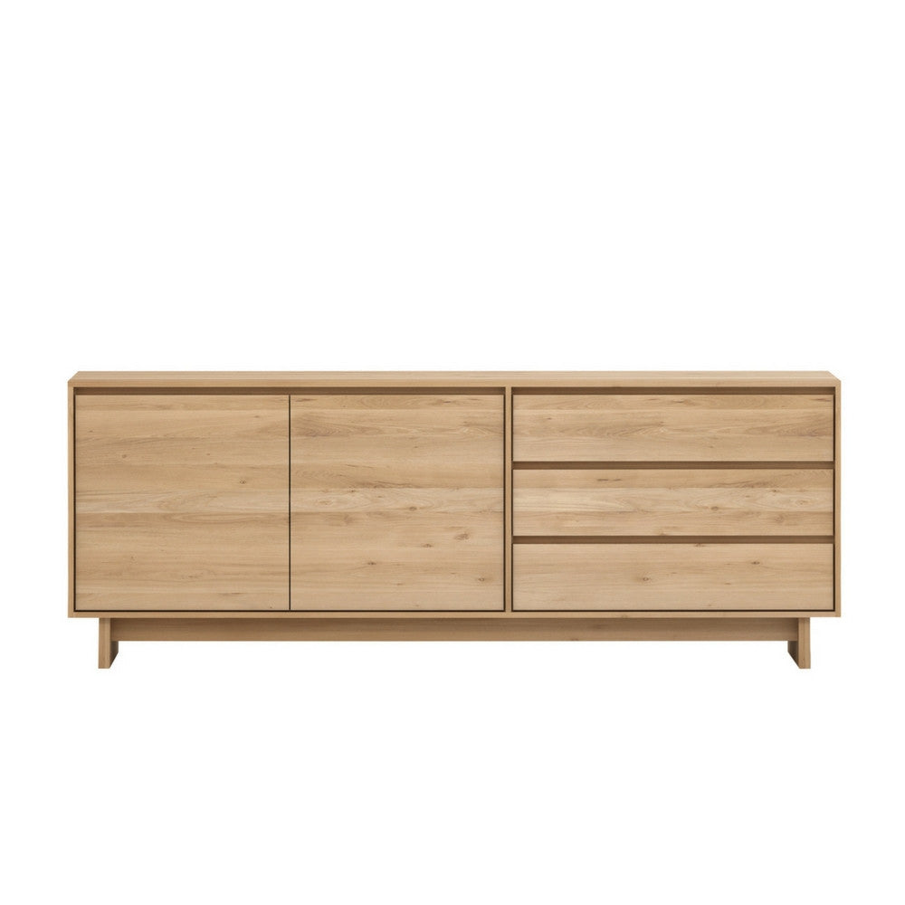 Wave Oak Sideboard with 2-Doors and 3-Drawers from Ethnicraft