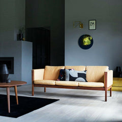 Wegner CH008 Coffee Table in Room with CH163 Sofa Carl Hansen and Son