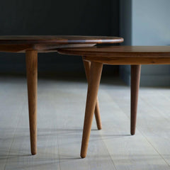 Wegner CH008 Coffee Tables by Carl Hansen and Son Side Detail