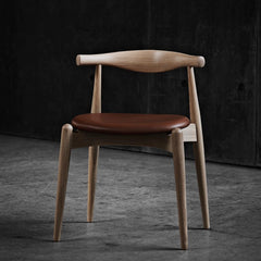 Hans Wegner CH20 Elbow Chair in Oak Oil with SIF Leather at Odrupgaard Denmark Carl Hansen and Son