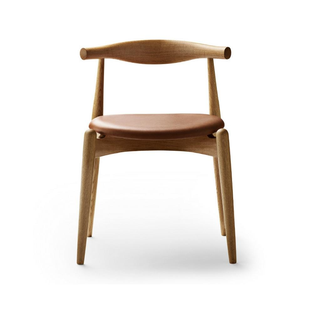 Wegner CH20 Elbow Chair in Oak Oil with SIF 95 Leather Carl Hansen and Son
