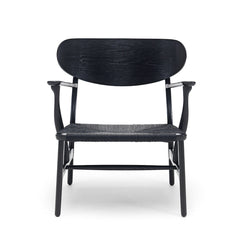 Wegner CH22 Lounge Chair in Black Painted Oak by Carl Hansen and Son