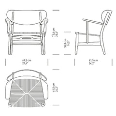 Wegner CH22 Chair Dimensions Carl Hansen and Son