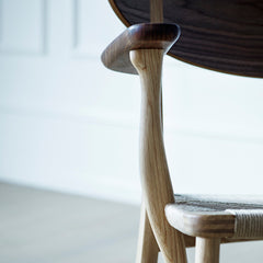 Wegner CH22 Lounge Chair Curved Arm Detail Carl Hansen and Son