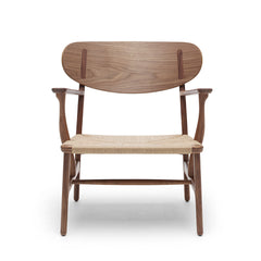 Wegner CH22 Lounge Chair in Walnut by Carl Hansen and Son