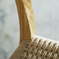Wegner CH23 Chair Double Woven Seat Detail Carl Hansen and Son