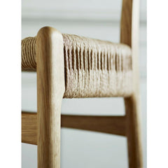 Wegner CH23 Chair Oak Woven Seat Side Detail Carl Hansen and Son