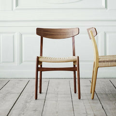 Wegner CH23 Chair Walnut and Oak in Room Carl Hansen and Son