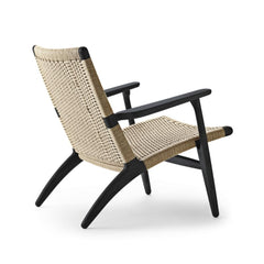 Hans Wegner CH25 Chair Oak Black Frame Natural Papercord