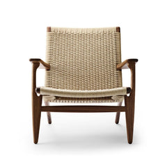 Wegner CH25 Lounge Chair in Walnut Oil with Natural Papercord
