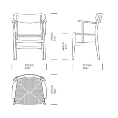 Wegner CH26 Chair Dimensions Carl Hansen & Son