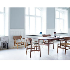 Wegner CH26 Dining Chairs in Room with CH22 Lounge Chair