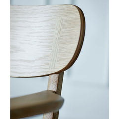 Wegner CH26 Dining Chair Oak Backrest Curve