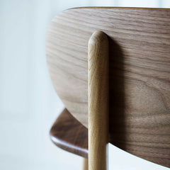 Wegner CH26 Dining Chair Walnut Backrest Detail