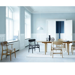 Wegner CH26 Dining Chairs in Dining Room with Woodlines Rug Carl Hansen & Son