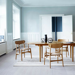 Wegner CH26 Dining Chairs Walnut and Oak in Dining Room with