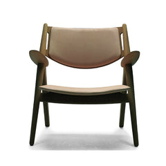 Wegner CH28 Sawhorse Chair Oak Upholstered Front Carl Hansen & Son