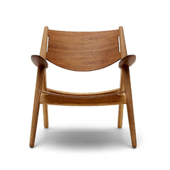 Wegner CH28 Sawhorse Chair Walnut and Oak Carl Hansen & Son