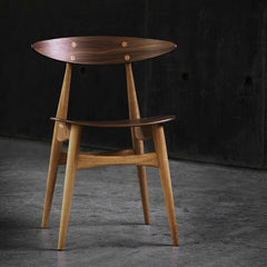 Wegner CH33 Chair Walnut Oak Detail Carl Hansen and Son
