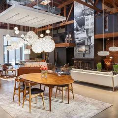 Wegner CH33 Chairs in Carl Hansen & Son LA Showroom Dining Room Vignette