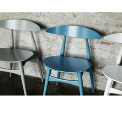 Wegner CH33 Chairs Silver Turquoise White Carl Hansen and Son