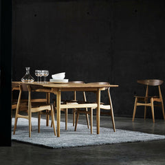 Wegner CH33 Chairs Walnut Oak in Dining Room Carl Hansen and Son