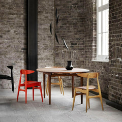 Hans Wegner CH33 dining Chairs in Loft with CH337 Dining Table Carl Hansen & Søn