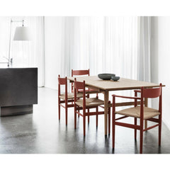 Wegner CH37 Shaker Dining Chairs in Kitchen with Wegner Dining Table Carl Hansen and Son