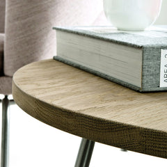 Wegner Side Table Solid Oak Detail Carl Hansen & Son