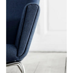 Wegner CH445 Chair Arm Detail Kvadrat Canvas 794 Carl Hansen and Son