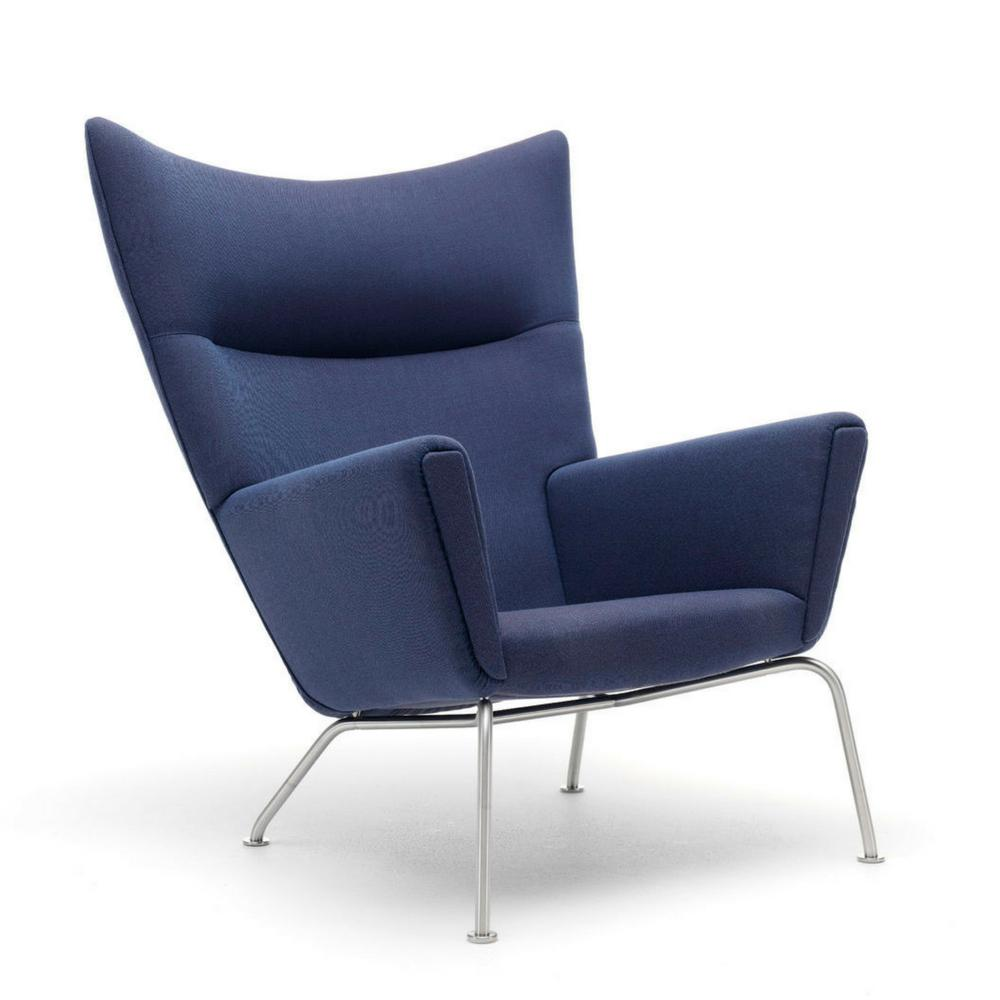 Wegner CH445 Wing Chair in Kvadrat Rime 781