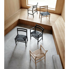 Wegner CH46 and CH47 chairs in room aerial view Carl Hansen & Son
