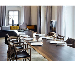 Wegner CH46 Chairs in Noma Restaurant Angled Carl Hansen and Son