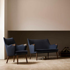Hans Wegner CH71 Lounge Chair in room with CH72 Sofa Carl Hansen and Son