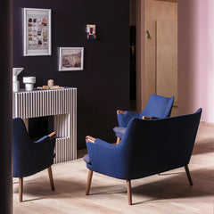 Hans Wegner CH71 Lounge Chairs and CH72 Sofa in situ at Salone di Mobile Carl Hansen and Son