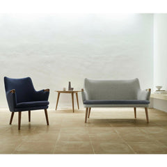 Wegner CH72 Sofa and CH71 Chair Wool and Canvas in room Carl Hansen and Son