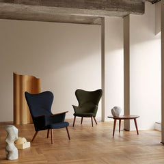 Wegner CH78 Mama Bear Chairs in Kvadrat Fiord Forest Green 0961 and Navy Blue
