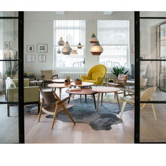 Hans Wegner Coffee Tables in Carl Hansen New York Showroom