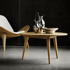 Shell Chair in Room with CH008 Wegner Coffee Table