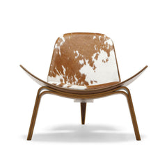 Wegner Shell Chair Cowhide Carl Hansen & Son at Palette & Parlor