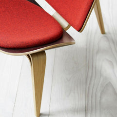 Wegner Shell Chair Red Kvadrat Fabric Detail