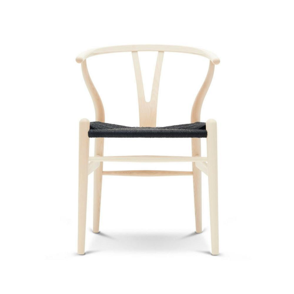 wegner wishbone chair natural wood black papercord palette