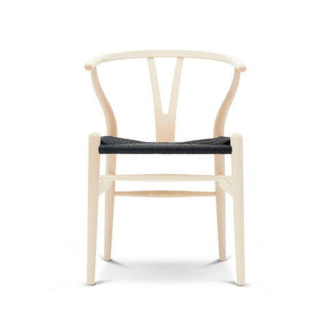 Wegner Wishbone Chair | Natural Wood | Black Papercord