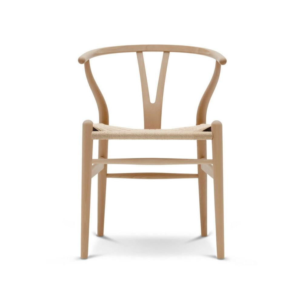 Wegner Wishbone Chair Beech With Natural Papercord CH24