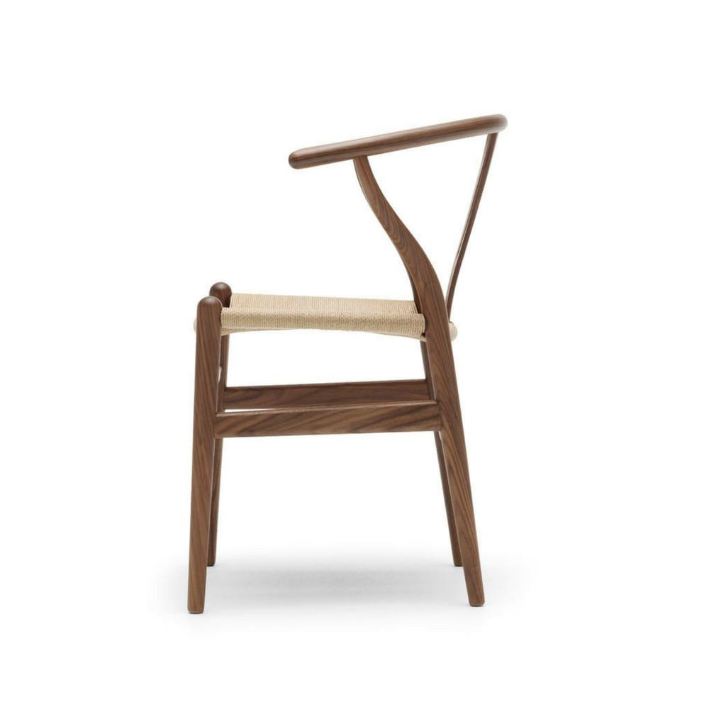 Wegner Wishbone Chair Walnut With Natural Papercord CH24 Side