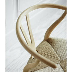 Wegner Wishbone Chair Oak Top View Detail