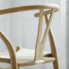 Wegner Wishbone Chair Oak Back Detail
