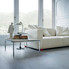 Barber Osgerby Knoll Sofa in Room with Florence Knoll Marble Coffee Table